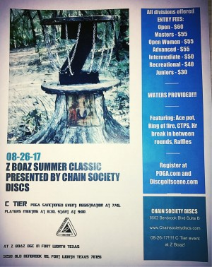 Z Boaz Summer Classic Presented by Chain Society Discs graphic