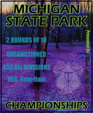 Michigan State Park Championships graphic