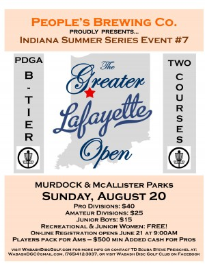 People's Brewing Co presents The 2017 Greater Lafayette Open graphic