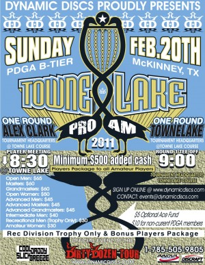 2011 Towne Lake Pro/Am presented by Dynamic Discs graphic