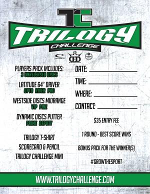Hendricks County Disc Golf Trilogy Challenge graphic