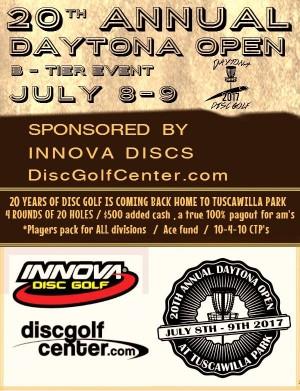 20th Annual Daytona Open graphic