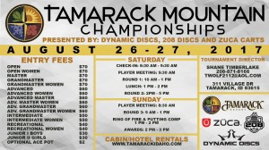 Tamarack Mountain Championships presented by Dynamic Discs, 208 Discs, Zuca graphic