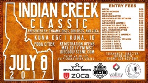 Indian Creek Classic presented by Dynamic Discs,208 Discs, Zuca graphic