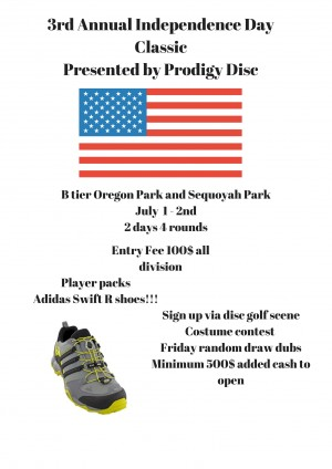 3rd annual Independence Day Classic Presented by Prodigy Disc graphic