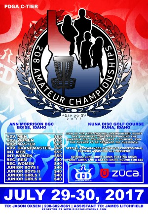 208 Amateur Championships presented by Dynamic Discs, 208 Discs and Zuca graphic
