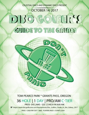 Disc Golfers Guide to the Galaxy graphic