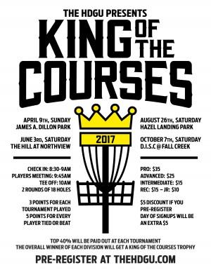 King of the Courses @ Hazel Landing Park graphic