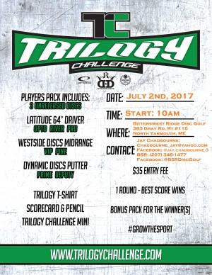 Trilogy Challenge at Bittersweet Ridge Disc Golf graphic