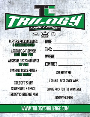 Shelbyville TN Disc Golf Club Trilogy Challenge graphic