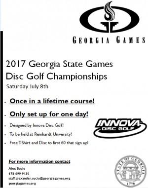 Georgia State Games Disc Golf Tournament graphic