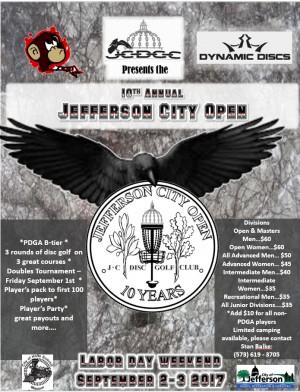 2017 Jefferson City Open - 10th Annual graphic