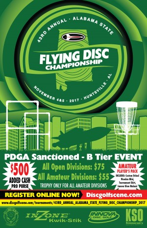 43RD ANNUAL ALABAMA STATE FLYING DISC CHAMPIONSHIP graphic