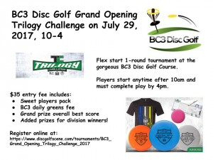 BC3 Grand Opening - Trilogy Challenge graphic