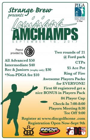 Strange Brew Presents 3rd Annual Louisiana Amateur Championships graphic