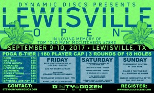 Dynamic Discs Presents the 2017 Lewisville Open graphic