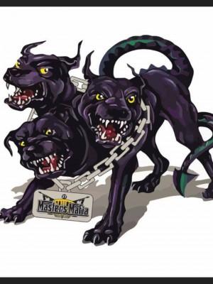 Three headed monster graphic
