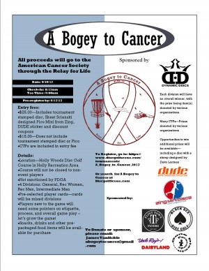 A Bogey to Cancer graphic