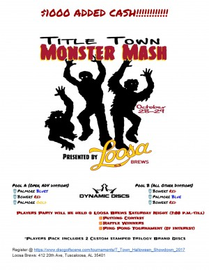Title Town Monster Mash presesnted by Loosa Brews graphic