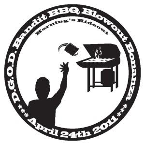 DGOD! Bandit BBQ Bag Tag Blowout Bonanza! graphic