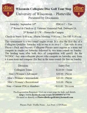 Wisconsin Collegiate Tour - Platteville graphic