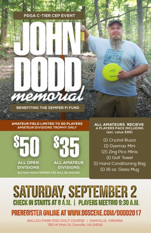 The John Dodd Memorial benefiting the Semper Fi Fund graphic