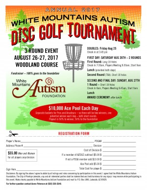 White Mountains Autism Disc Golf Tournament graphic