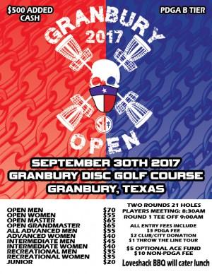 Granbury Open - Throw the Line Tour Event graphic