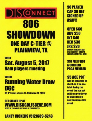 806 Showdown/One Day C Tier @ Plainview graphic