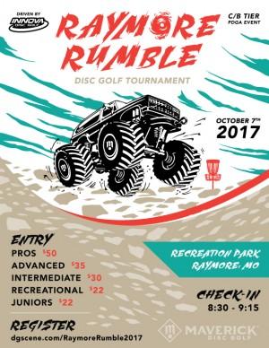 Maverick DG: Raymore Rumble presented by Innova Disc Golf graphic