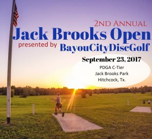 2nd Annual Jack Brooks Open presented by Bayou City Disc Golf graphic