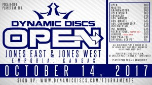 2017 Dynamic Discs Open graphic