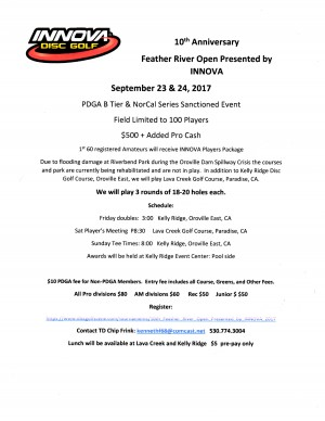 10th Feather River Open Presented by INNOVA graphic