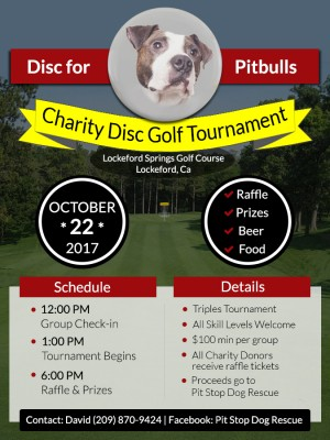Disc for Pitbulls Charity Tournament graphic