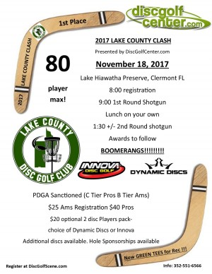 2017 Lake County Clash presented by DiscGolfCenter.com graphic
