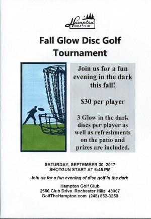 Hamton Golf Club Glow Tournament graphic