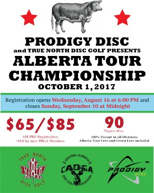 Prodigy Disc and True North Disc Golf presents the Alberta Tour Championship graphic