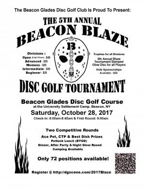 5th Annual Beacon Blaze Disc Golf Tournament graphic
