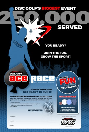 Discraft Ace Race at Bluegill Disc Golf Course graphic