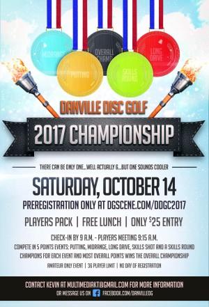 Danville Disc Golf Championship 2017 graphic