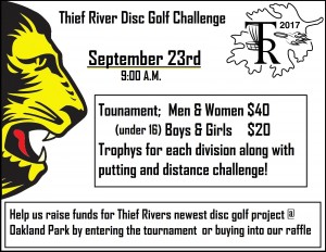 Thief River Disc Golf Challenge graphic