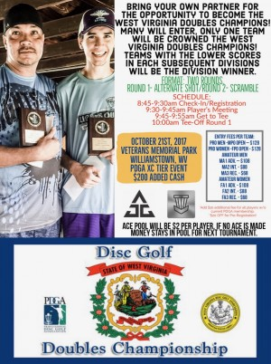 West Virginia Disc Golf Doubles Championship 2017 graphic