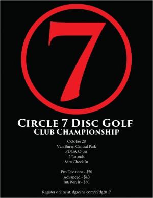 Circle 7 Disc Golf Club Championship graphic