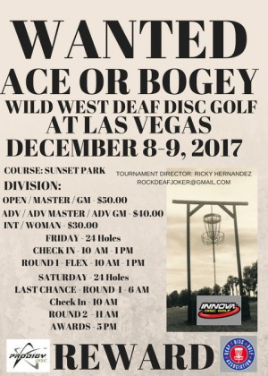 Wild West Deaf Disc Golf graphic