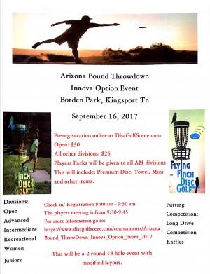 Arizona Bound ThrowDown Innova Option Event graphic