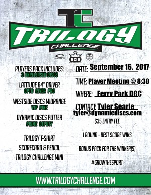 Ft Walton Beach FL Trilogy Challenge sponsored by Dynamic Discs graphic