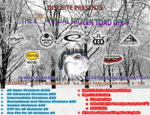 The 2nd Annual Frozen Toad Open graphic