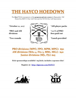 The HAYCO Hoedown: Sponsored by Dynamic Discs graphic