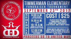 Timmerman Elementary Fundraiser Tournament graphic