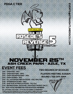 Roscoe's Revenge 5 - Throw the Line Tour Event graphic
